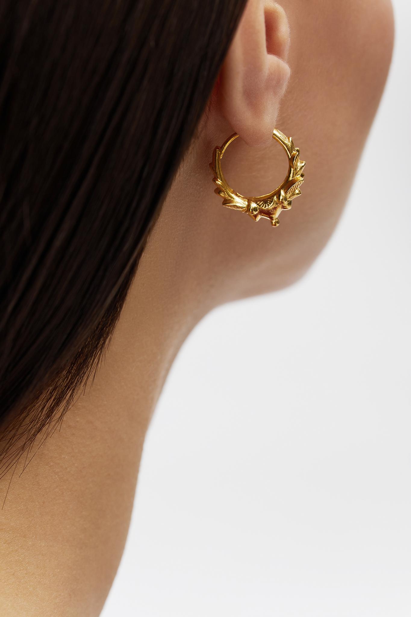 Blameyourdaze hoop earrings gold