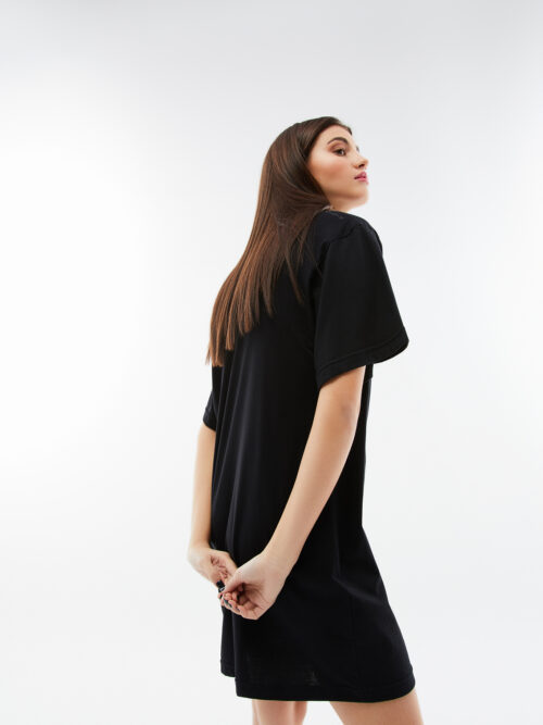 BLAMEYOURDAZE TSHIRT DRESS BLACK
