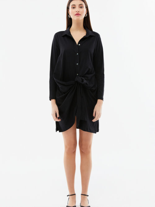 BLAMEYOURDAZE TIE THE KNOT SHIRTDRESS