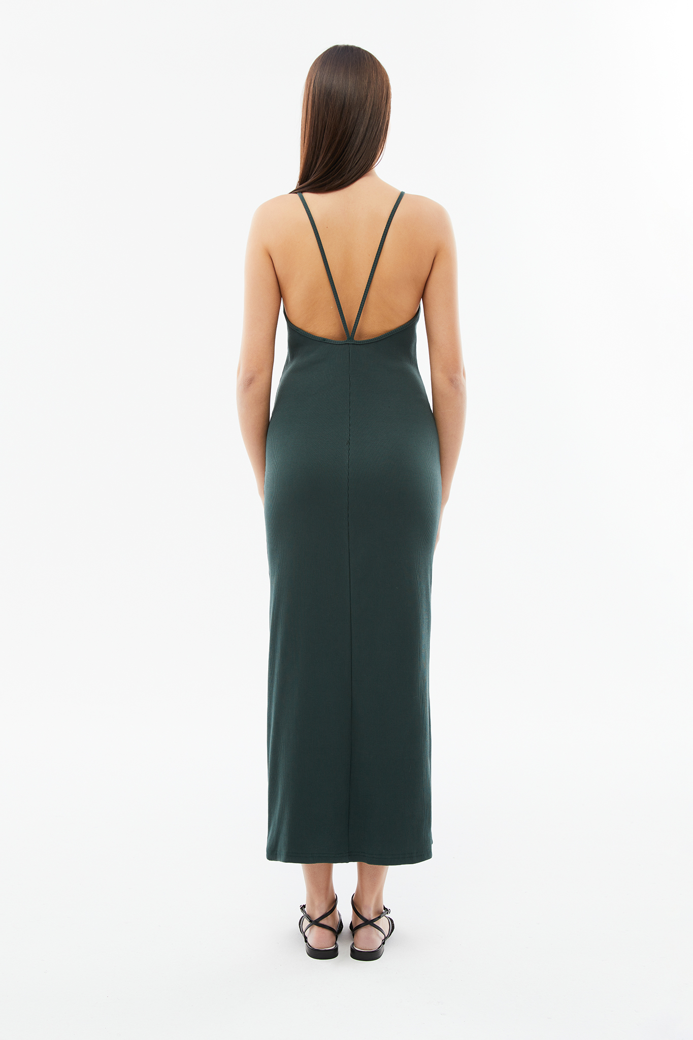 blameyourdaze lowcut back rib dress