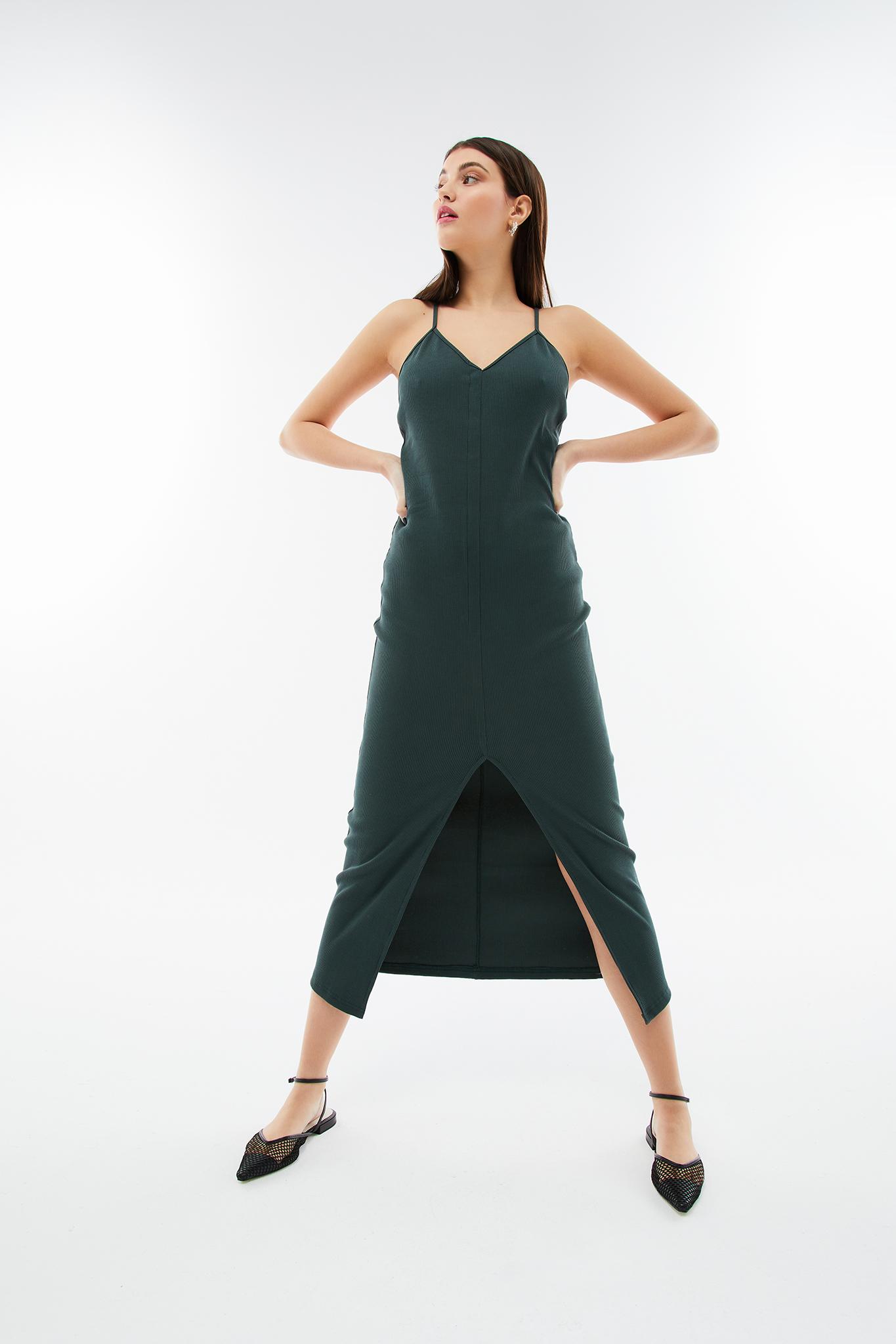 blameyourdaze rib khaki dress