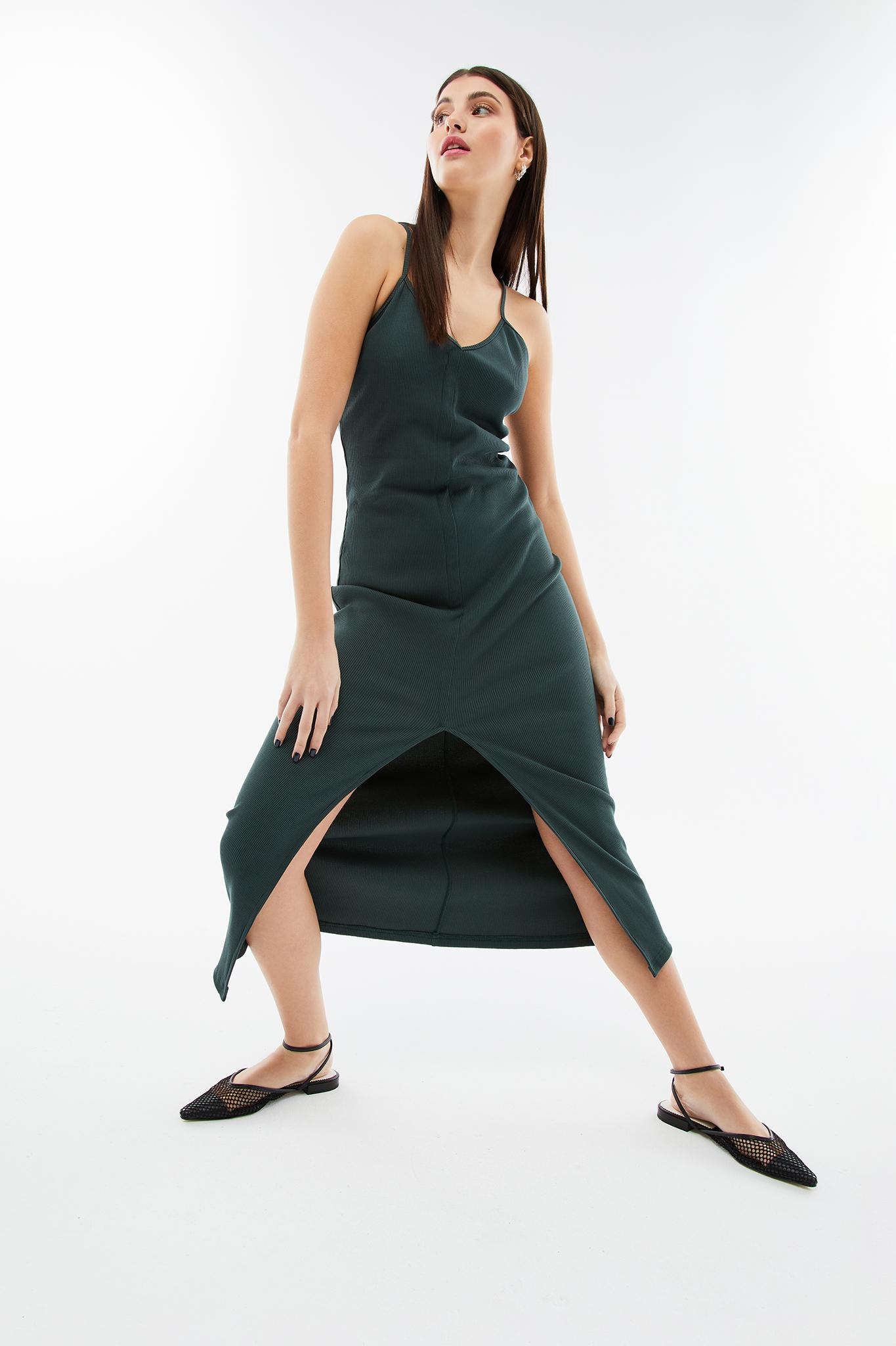 blameyourdaze midi rib dress