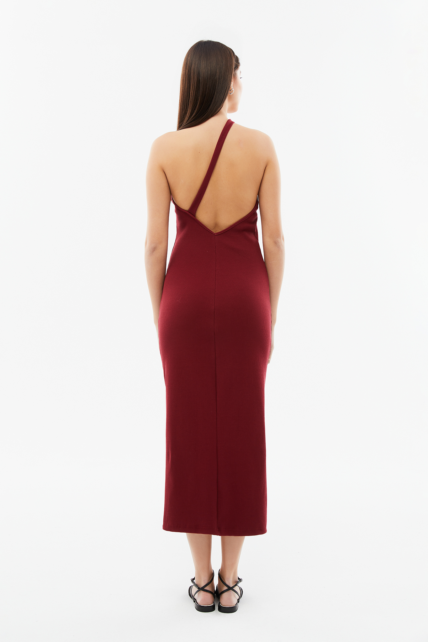 Blameyourdaze rib red dress