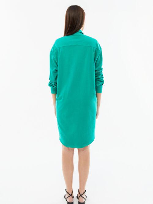blame your daze oversized green dress