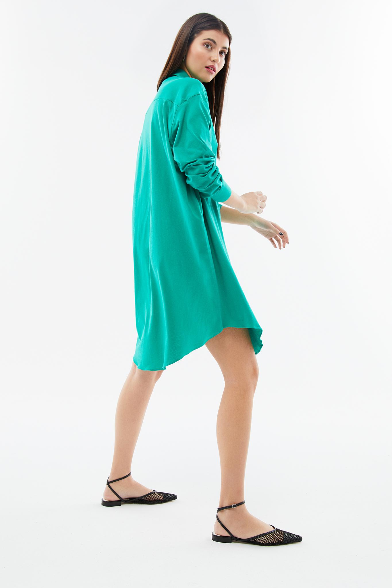 BLAMEYOURDAZE oversized green dress