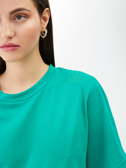 BLAMEYOURDAZE GREEN SHORT TSHIRT DRESS
