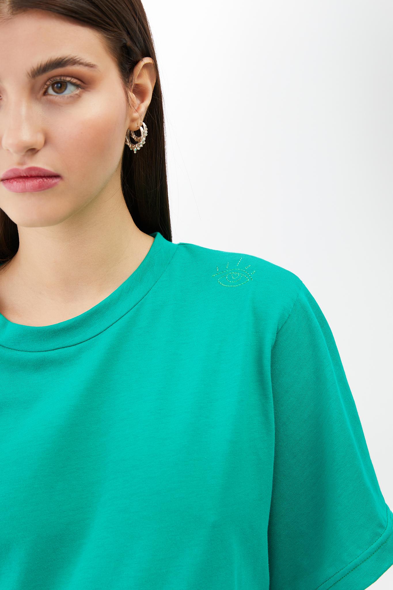 BLAMEYOURDAZE GREEN SHORT TSHIRT DRESS