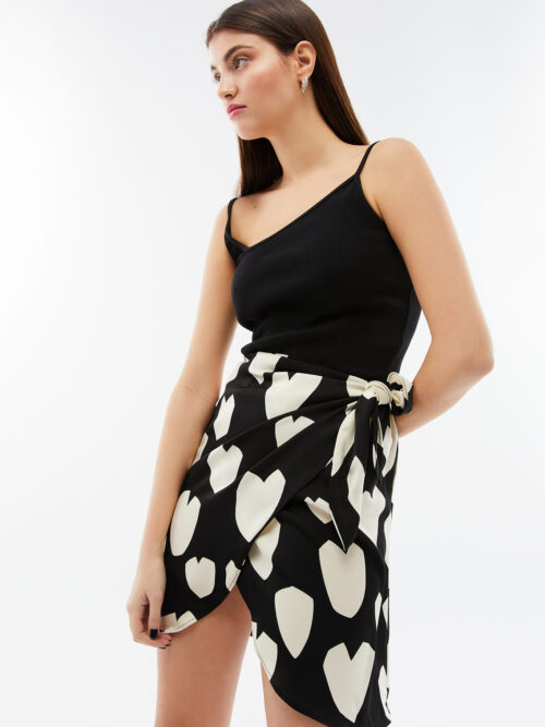 Blameyourdaze mini wrap skirt heart