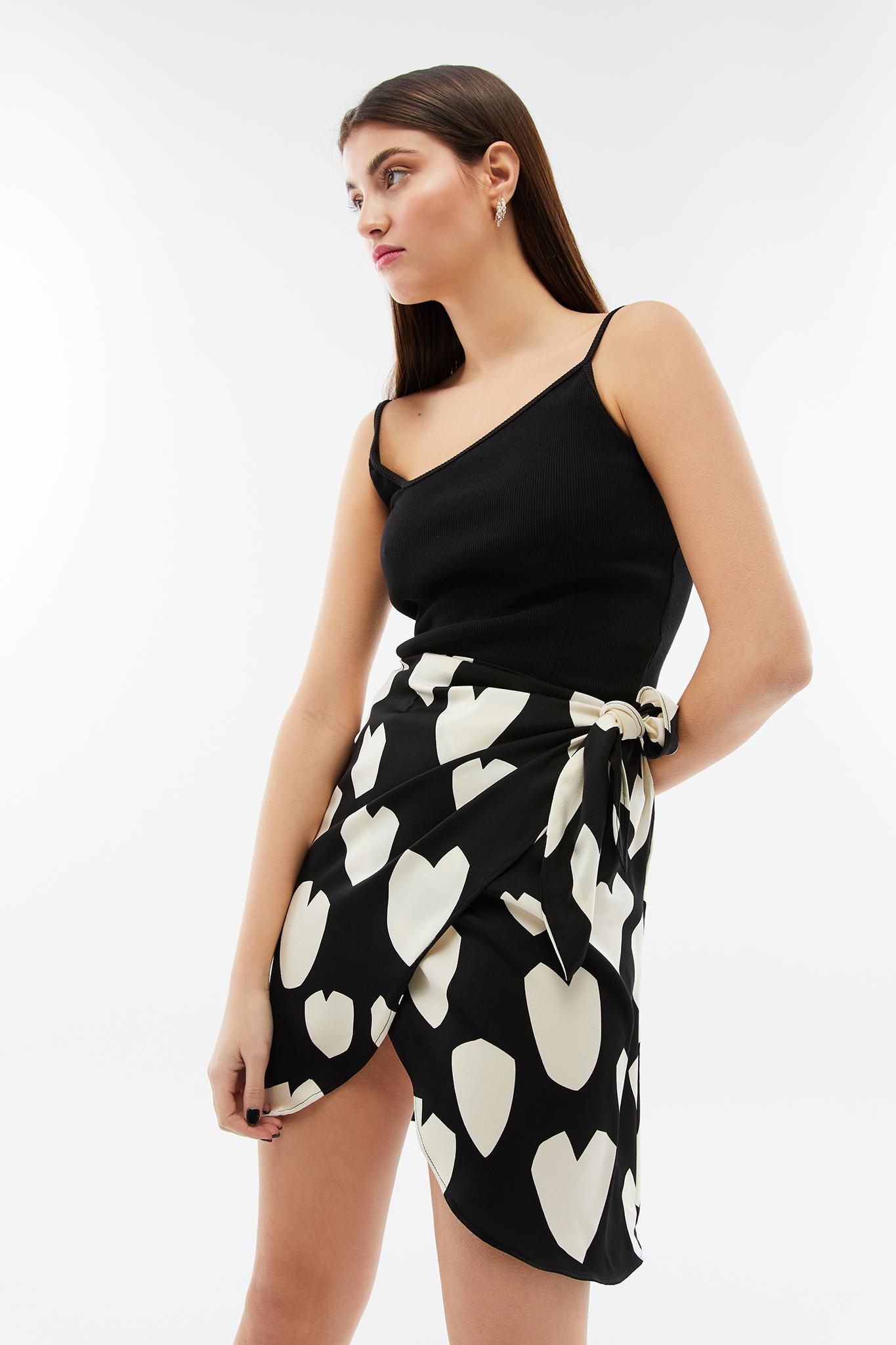 Blameyourdaze mini wrap skirt heart