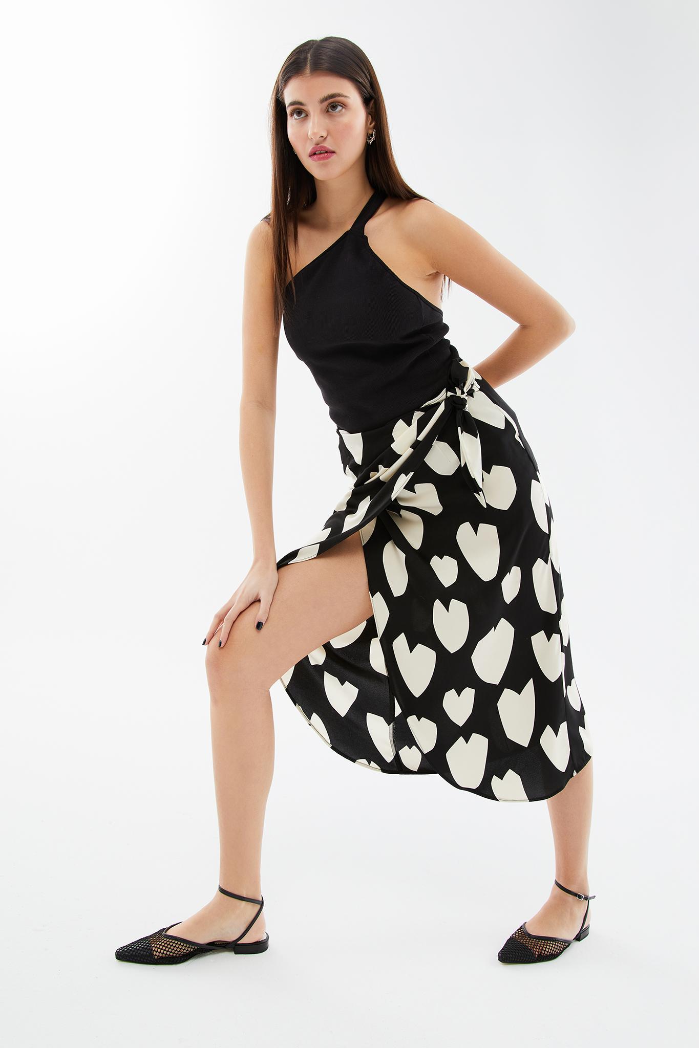 blameyourdaze printed skirt