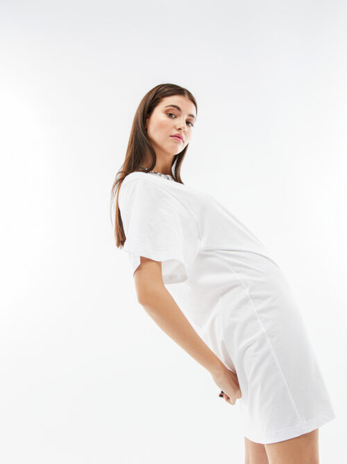 BLAMEYOURDAZE WHITE COTTON DRESS