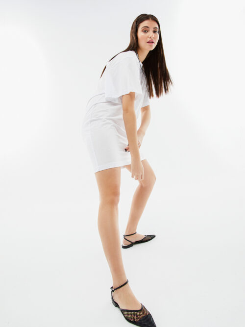 BLAMEYOURDAZE TSHIRT DRESS WHITE